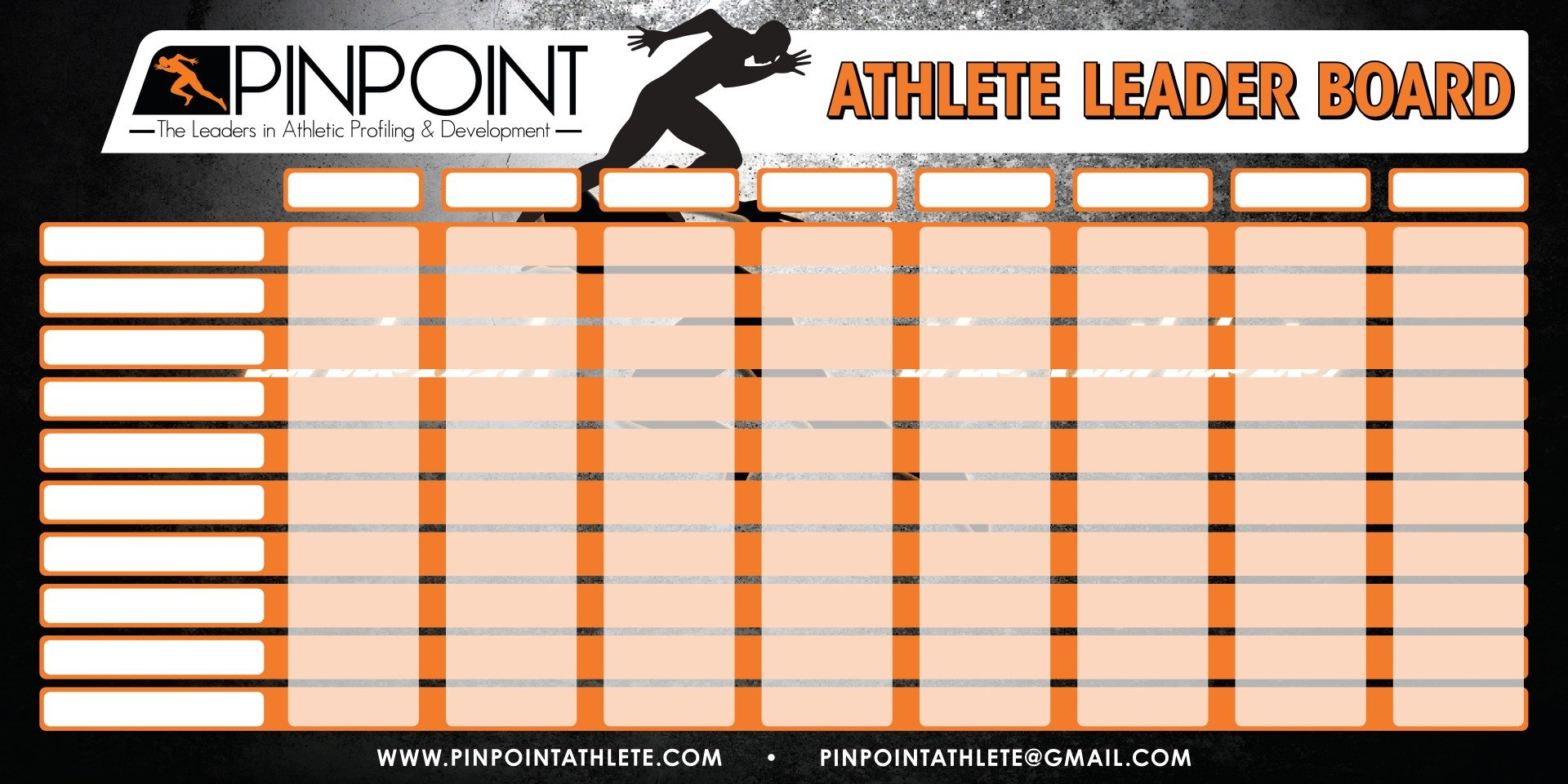 Pinpoint Athlete Leader Board
